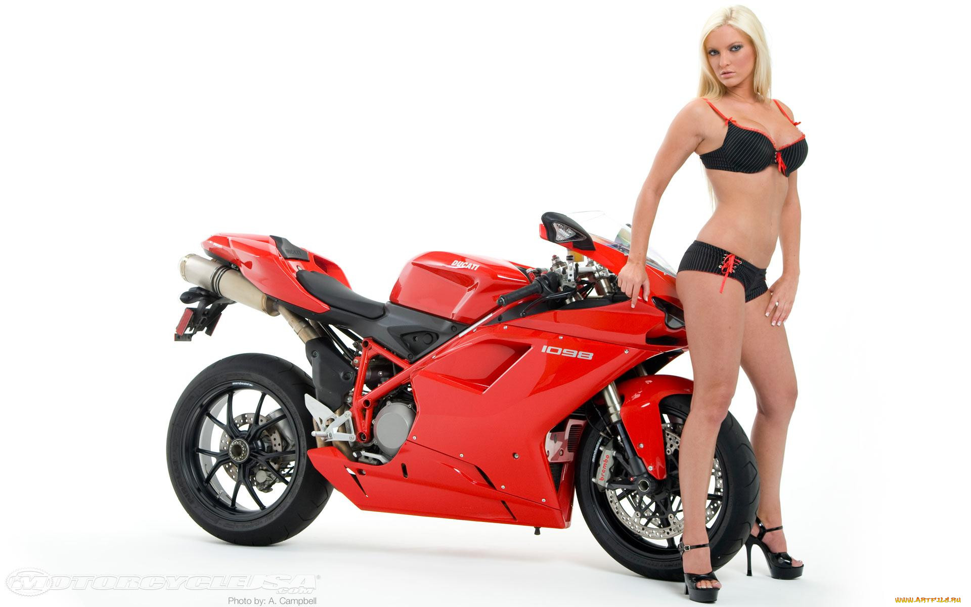 holly, ann, with, ducati, 1098, мотоциклы, мото, девушкой